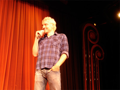 Scotch Wichmann performing at the Comedy Store