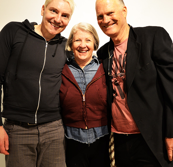 Scotch Wichmann with Pam and Steve Nagler of performance art troupe The Shrimps